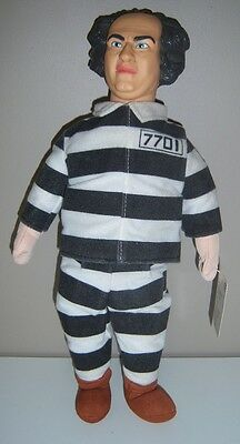 "The Three Stooges Larry ""Jailbird"" Convict Stuffed Doll - 1999 15"""