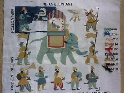 """Ehrman """"indian Elephant"""" Tapestry Canvas Printed By Twilleys"""