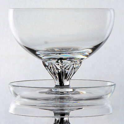 """Set Of 4  Belfor Crystal """"exquisite"""" - Footed Dessert Bowls/dishes"""