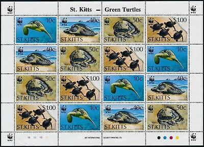 [GE15275] St-Kitts 1995 WWF Turtles good sheet very fine MNH
