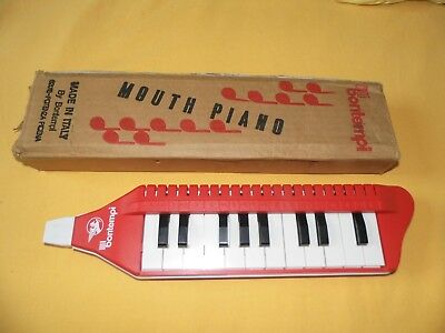 Melodica Bontempi Mouth Piano Vintage Made In Italy Tbe + Carton