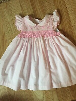 Zip Zap Baby Smocked Dress 3-6 Romany