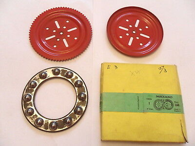 Meccano Light Red Ball Thrust Bearing Part 168 In Trade Box