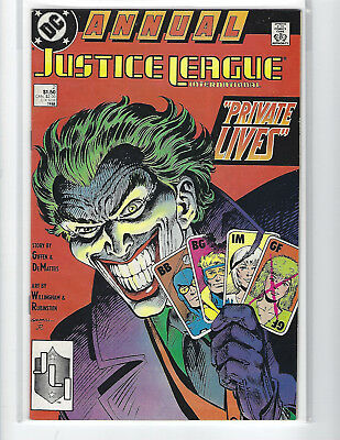 Justice League International Annual #2 Joker Cover Dc Copper Age High Grade Copy