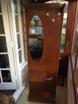 1950s Kitsch Fifties Mid Century Vintage Retro Hall Coat Stand with Mirror