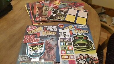 Starlord comic issues 1 to 12 including tank commander badge