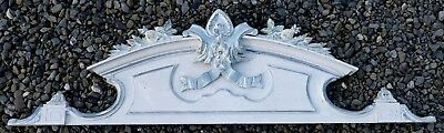 4ft Antique French Wooden Door/Furniture Pediment with Carved Pineapples!!