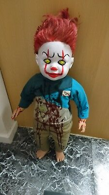 Horror Halloween scay large killer clown doll penny 21.5 inches tall