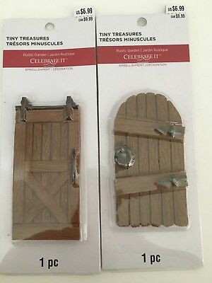 miniature doors two styles/ train set ups/ doll houses/dioramas/crafters