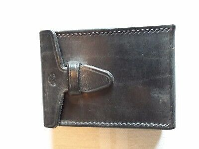 Leather playing card case with belt clip - magic