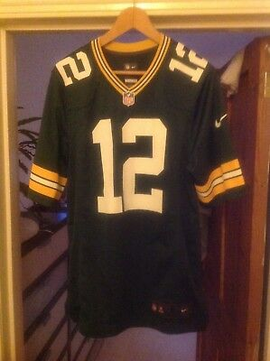 Nike Aaron Rodgers #12 Green Bay Packers American Football NFL jersey Small VGC