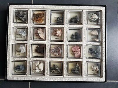 Treasures Of The Earth - 20 minerals set in display box.