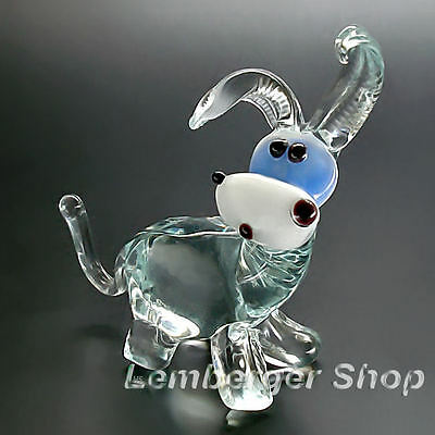 Glass figurine donkey made of colored glass. Height 6 cm / 2.4 inch!