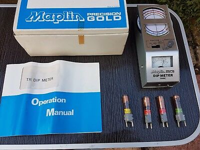 MAPLIN TR DIP METER 1.5-250 MHZ BOXED WITH COILS + Instructions Excellent  YN84C