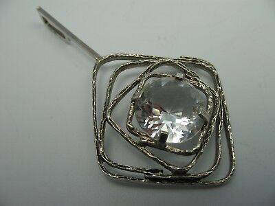 Gorgeous 70er Vintage Pendant 835 Silver with Crystal