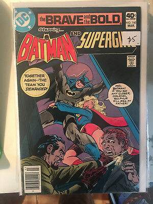 THE BRAVE AND THE BOLD #160 VF 1st Print SUPERGIRL Batman