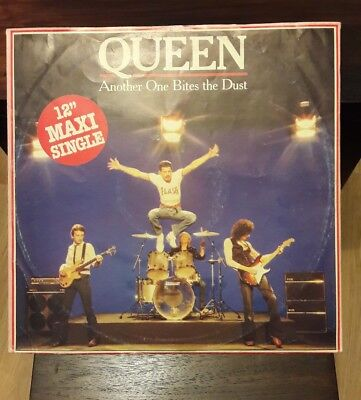 """Queen. Another One Bites The Dust. Scarce German Maxi 12"""", Vinyl. Dragon Attack"""