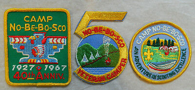 Boy Scout Camp N0-Be-Bo-Sco Patches  3 Different From 1960's