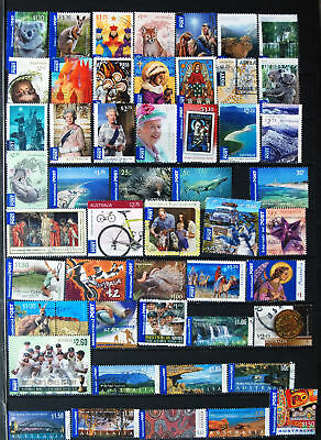 A Selection of 50 Different Australian International Post.