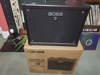 Boss Katana 50 Guitar Amplifier. Boxed, hardly used. Collection only.