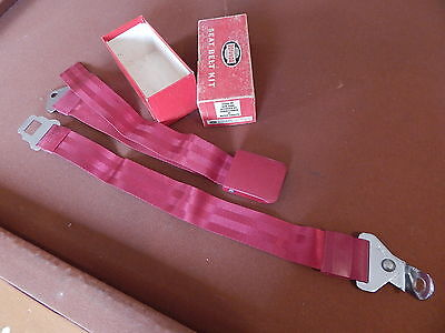 NOS FORD 60's ROTUNDA SEAT BELT RED C3RZ-62161200 63 64 65 FAIRLANE MUSTANG ALL