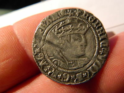 Henry Viii Groat ,hammered Coin