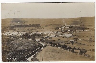 View Of The Village Of Sabden Ribble Valley Lancashire Old Real Photo Postcard