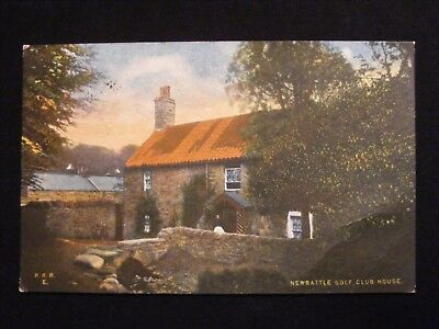 1909 Newbattle Golf Club House Postcard Newtongrange Postmark