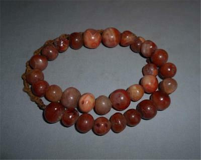 Antique Himalaya Tibet TOP HIGH AGED LARGE ROUND RED CARNELIAN STONE BEADS