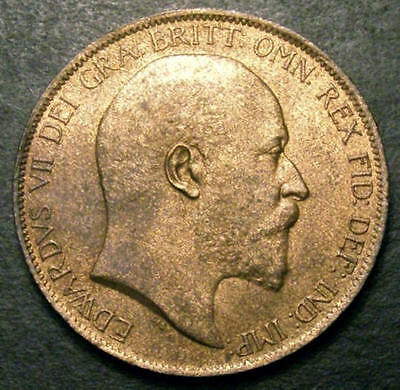 1902 Choice UNC Edward VII Low Tide Penny CGS 80 ~MS64