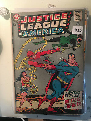 JUSTICE LEAGUE OF AMERICA #25 FN 1st Print Wonder Woman Superman Silver Age