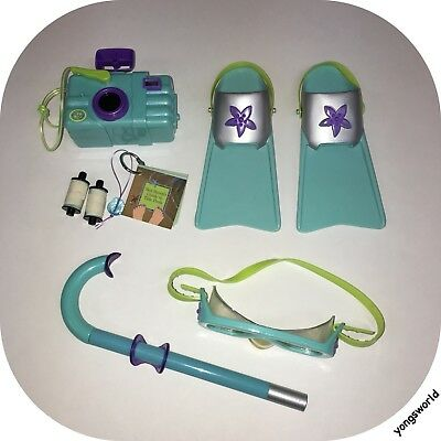 Pleasant Company American Girl Kailey Snorkel Set Camera Film Flippers Lot