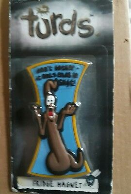VERY HARD TO NOW FIND. The Turds Rubber Fridge Magnet - THE TURDS Fridge Magnet