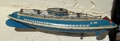 !940 Wolverine Toy Tin Litho Navy Submarine Ship