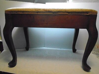 Vintage Footed Bench Stool Large Vanity Bench Home Decor Bench Stool