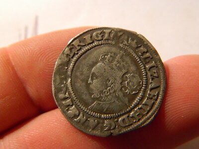 ELIZABETH 1st SIXPENCE 1568 HAMMERED COIN, NO RESERVE