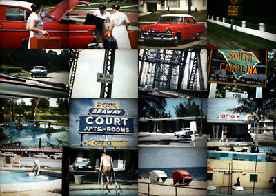 700ft Kodachrome Home Movies 1958 MIAMI vacation and...