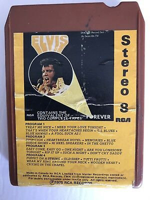 Elvis Presley 8 Track Forever RCA 1975 Two Complete Tapes