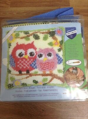 Vervaco Latch Hook Cushion Kit 'Owls On A Branch' Needlecrafts/Sewing