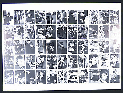 Vintage Beatles 1964 Topps Uncut Card Sheet Lennon Mccartney Harrison Starr