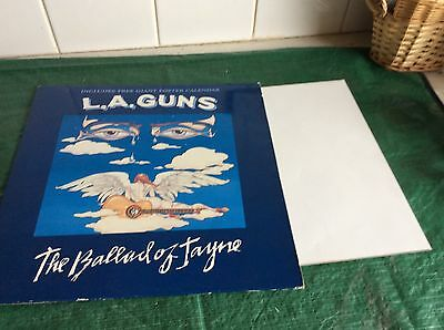 "1991 L.a Guns-The Ballad Of Jayne 12"" With Poster Calendar"