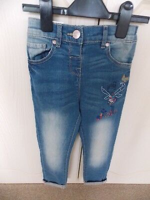 BNWT Next Girls Jeans 4-5 years with adjustable waist and motifs
