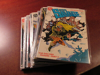 Lot of 20 Different Doc Savage DC 1988 #3-23 Comic Book Collection Run Hard2Find