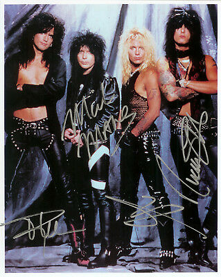 MOTLEY CRUE VINCE NEIL TOMMY LEE ROCK GROUP SIGNED GLOSSY 8x10 PHOTO RP