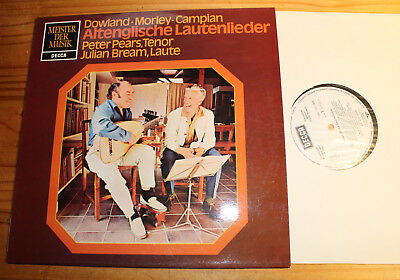 PROMO WHITE LABEL: Peter PEARS Julian BREAM Old English Lute Songs LP DECCA