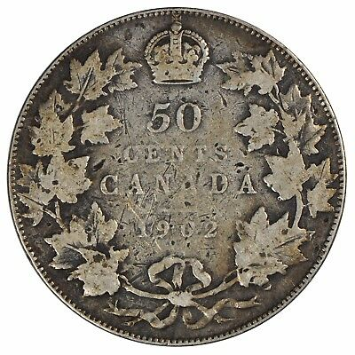 1902 Canada 50 cent Half Dollar - Collector Grade - See photos! H2-870