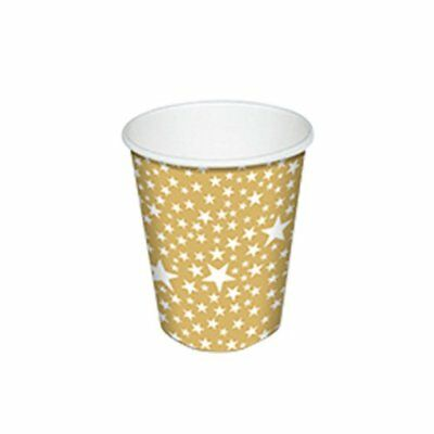 NEW Paper & Design Starlets Paper Cup 250ml 10pk Gold