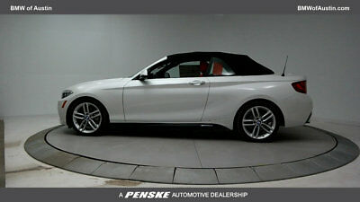 2017 BMW 2 Series 230i 230i 2 Series 2 dr Convertible Automatic Gasoline 2.0L 4 Cyl Mineral White Metal