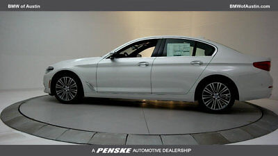 2017 BMW 5-Series 540i 540i 5 Series New 4 dr Sedan Automatic Gasoline 3.0L STRAIGHT 6 Cyl Mineral Whit