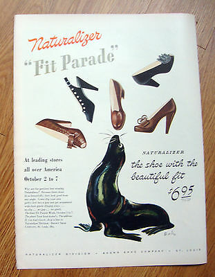 1944 Naturalizer Shoes Ad  Fit Parade